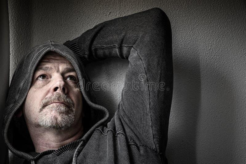 Adult Male in Dispair stock photos