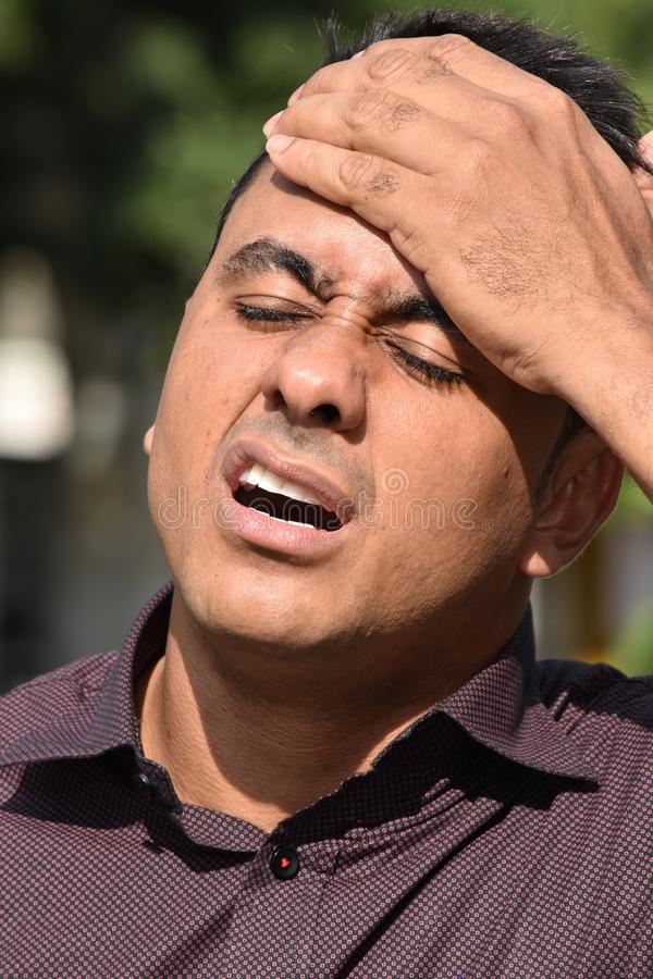 Adult Male With Headache royalty free stock images