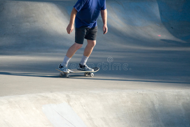 Adult Male Skateboarding at Skate Park v1 royalty free stock photo