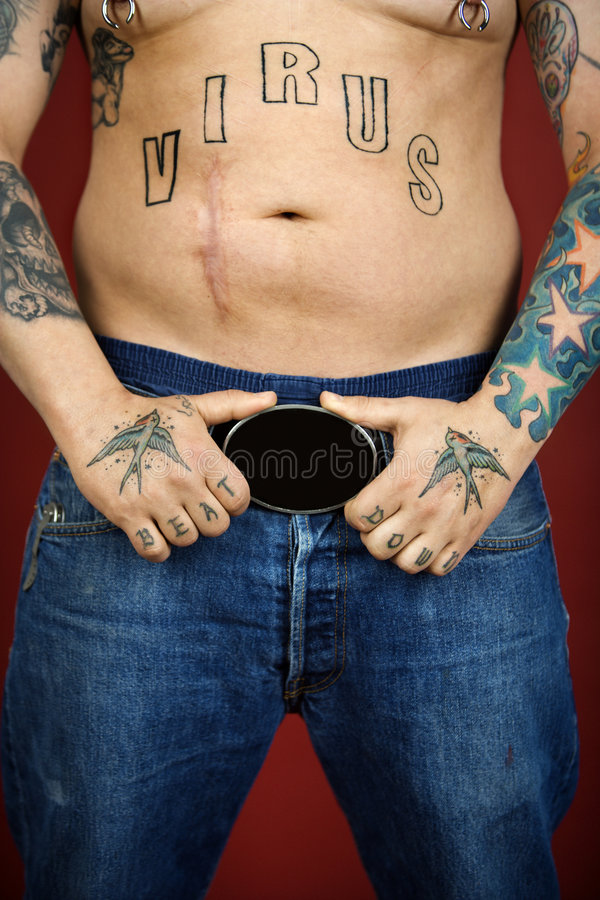 Download Adult male with tattoos. stock image. Image of caucasian - 2037993