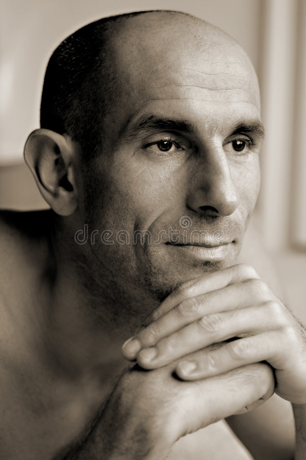 Download Adult Male Thinking Contemplating Pose Stock Photo - Image: 9236250