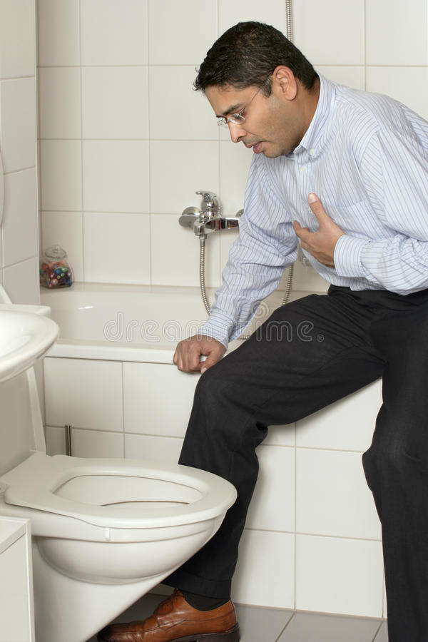 Download Adult Male With Upset Stomach Stock Photo - Image of vomit, adult: 15359752