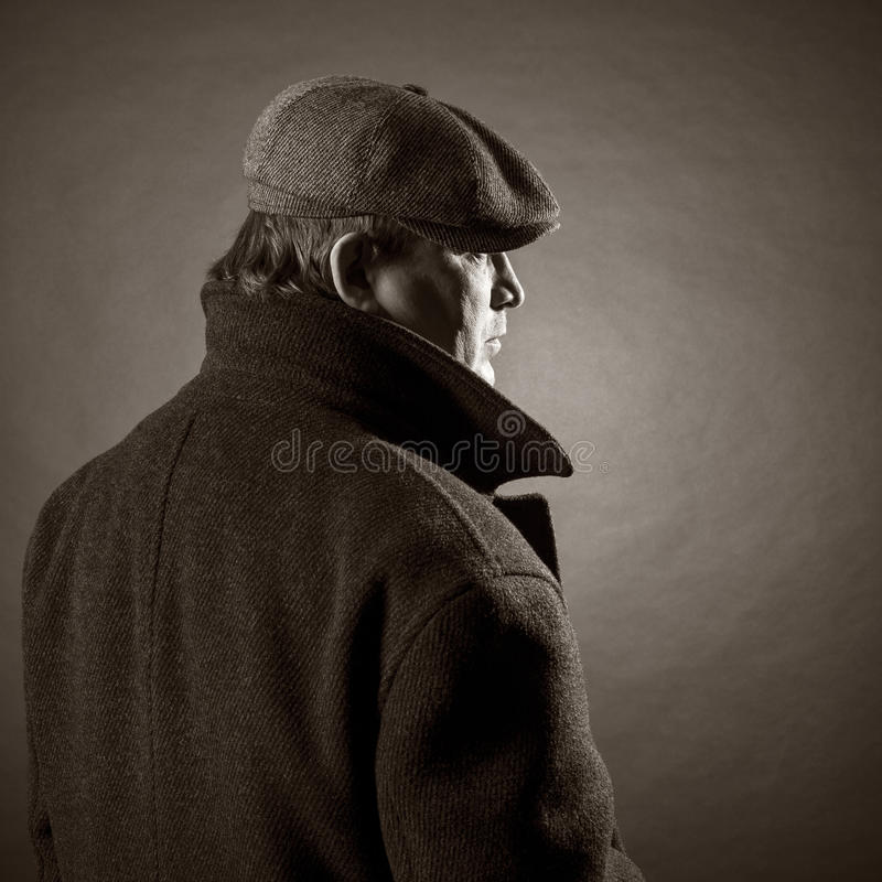 Adult man in a cap stock image
