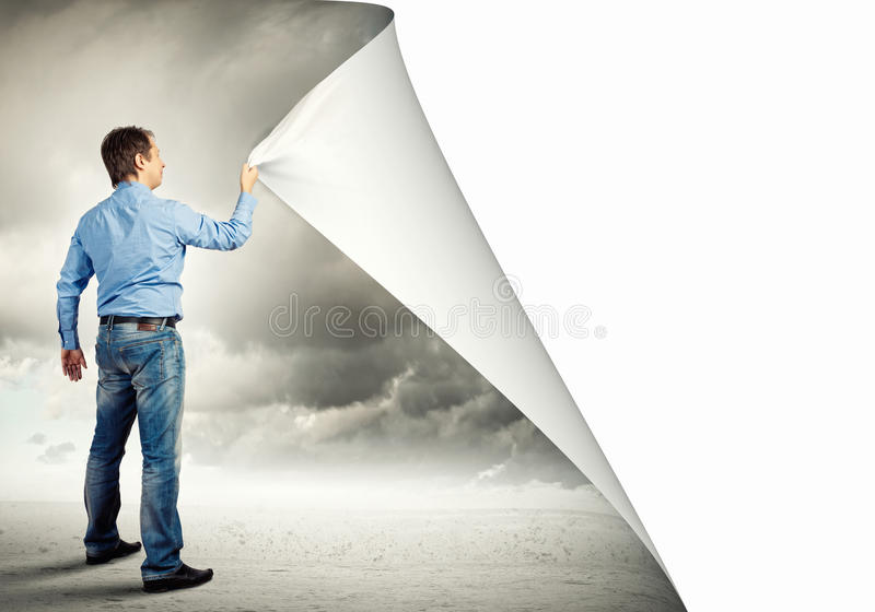 Download Adult man changing reality stock photo. Image of reality - 31209966