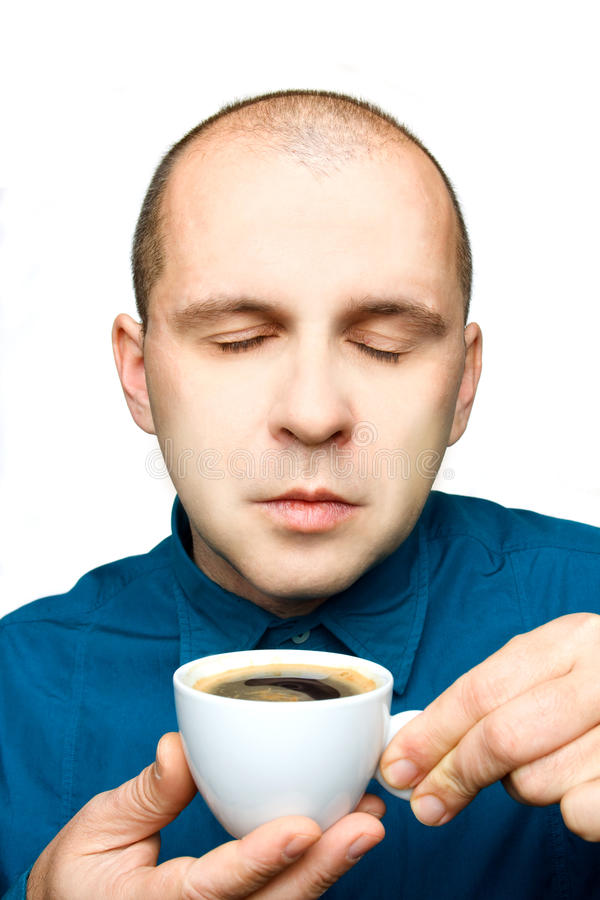 Download Adult Man Relaxing With A Cup Of Coffee Stock Image - Image: 12321279