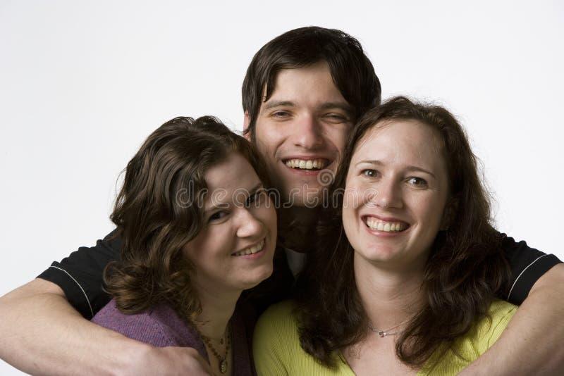adult portrait siblings three στοκ εικόνες
