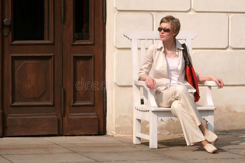 Download Adult resting woman stock image. Image of khaki, complexion - 106181