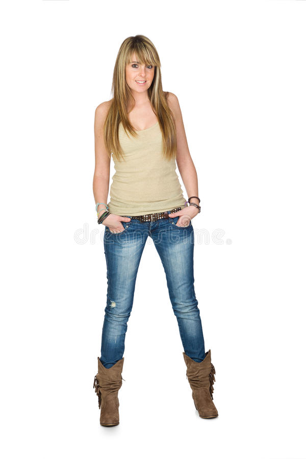 Download Adult Woman On Jeans Stock Photo - Image: 28166660