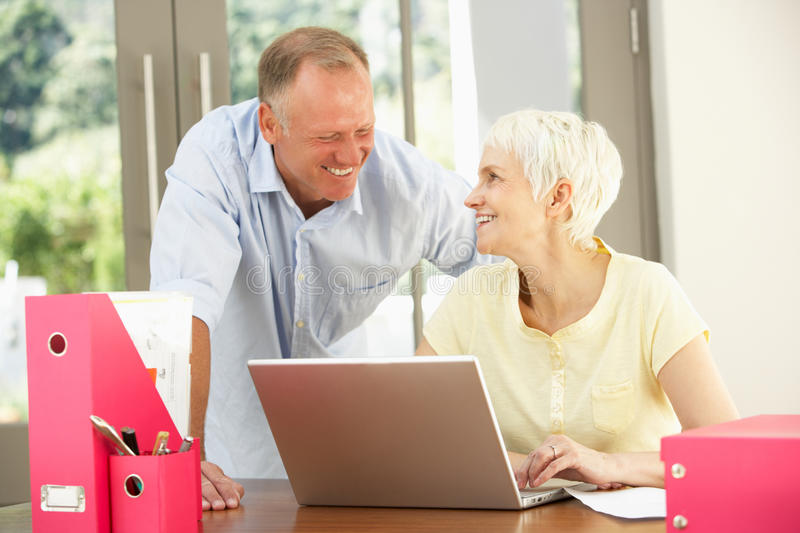 Download Adult Son And Senior Mother At Home Stock Image - Image: 14885115