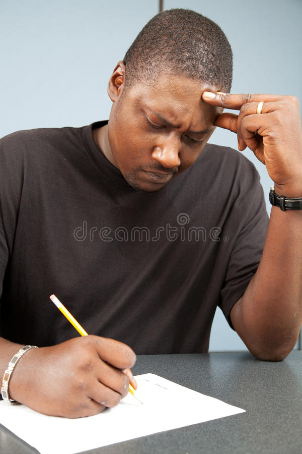 Download Adult Student With Test Anxiety Stock Photo - Image: 20771120