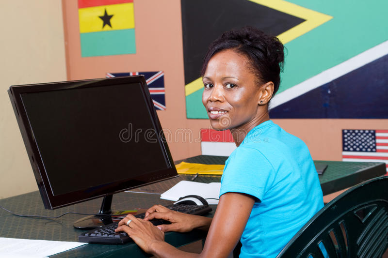 Download Adult Student Using Computer Stock Photo - Image: 13325174