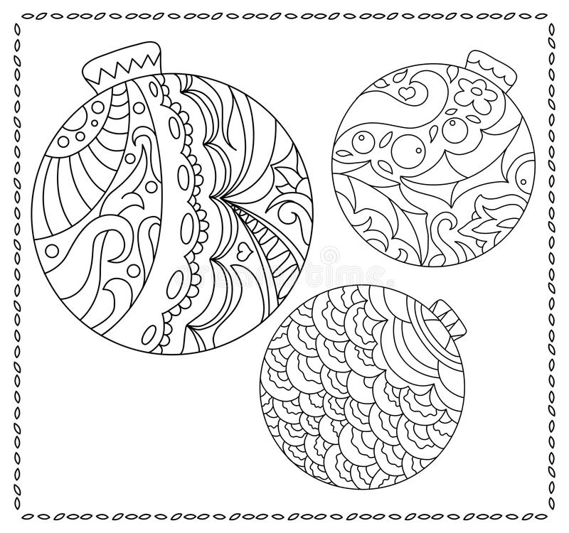 Adult Or Teen Coloring Page With Christmas Or New Year