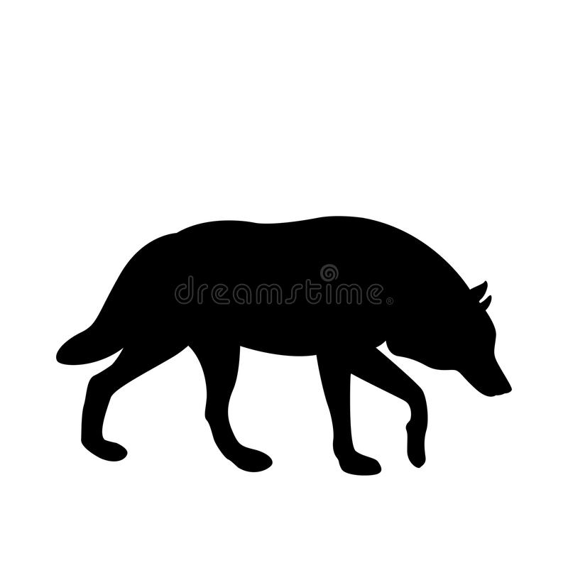 adult wolf vector illustration black silhouette profile stock vector rh dreamstime com wolf vector shutterstock wolf vector art free