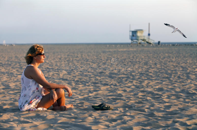 Download Adult Woman On A Coast Of Ocean Stock Photo - Image: 21519016