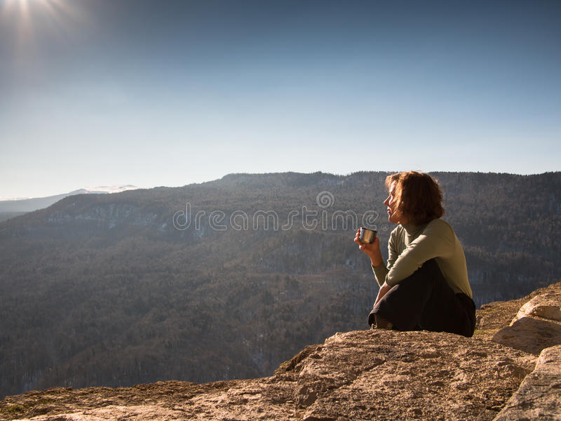 Adult woman sitting stock photography