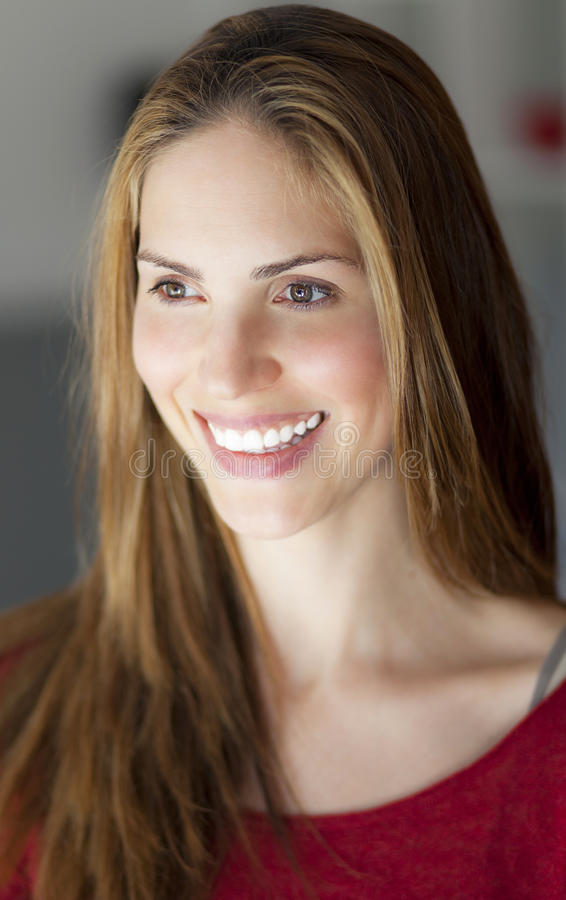 Adult Woman Smiling royalty free stock photo