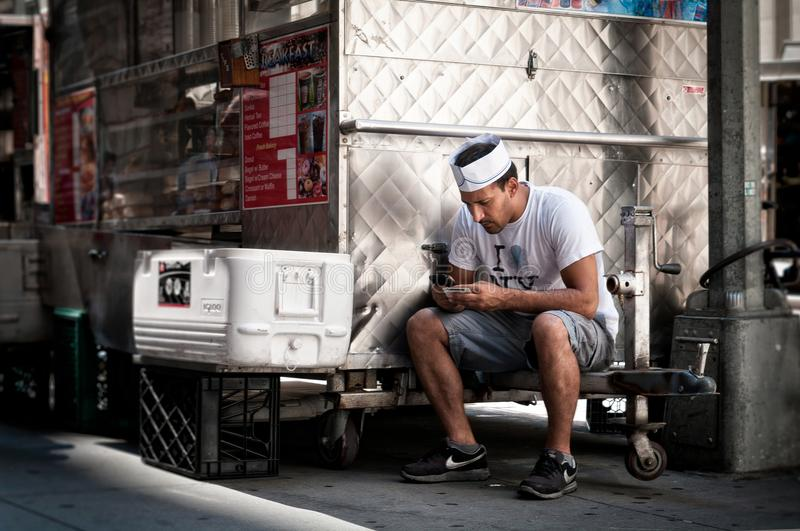 Adult Worker Using Mobile To Text At Work Free Public Domain Cc0 Image