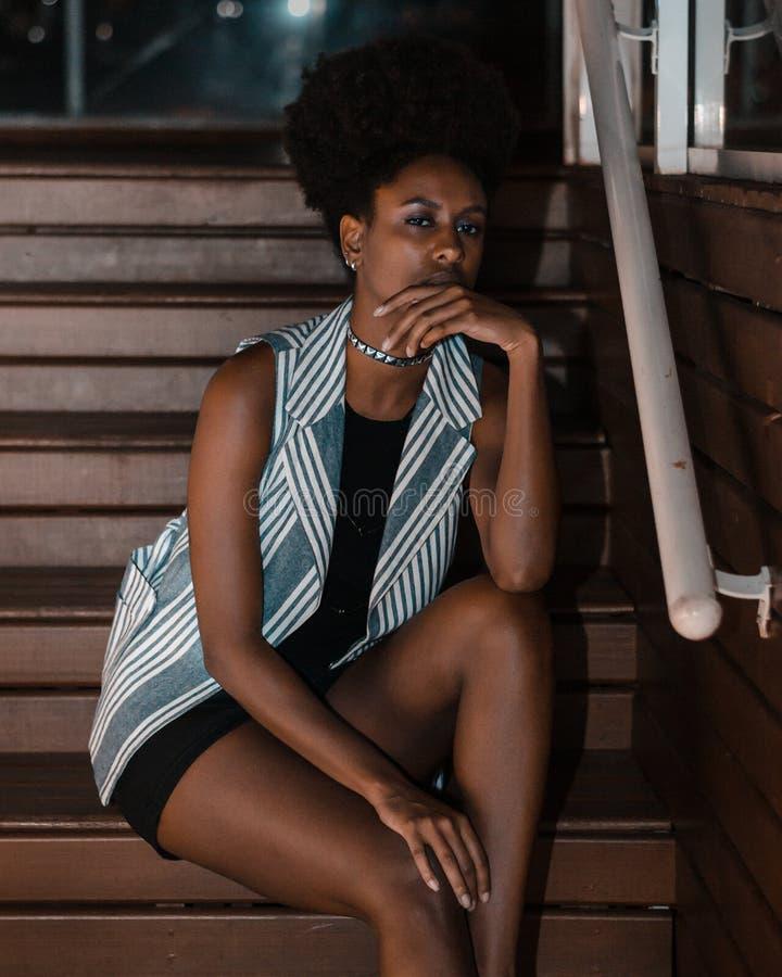Adulte, Afro, Belle image libre de droits