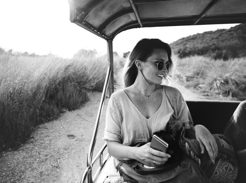 Adulte, aventure, noir, blanc et, photographie stock libre de droits