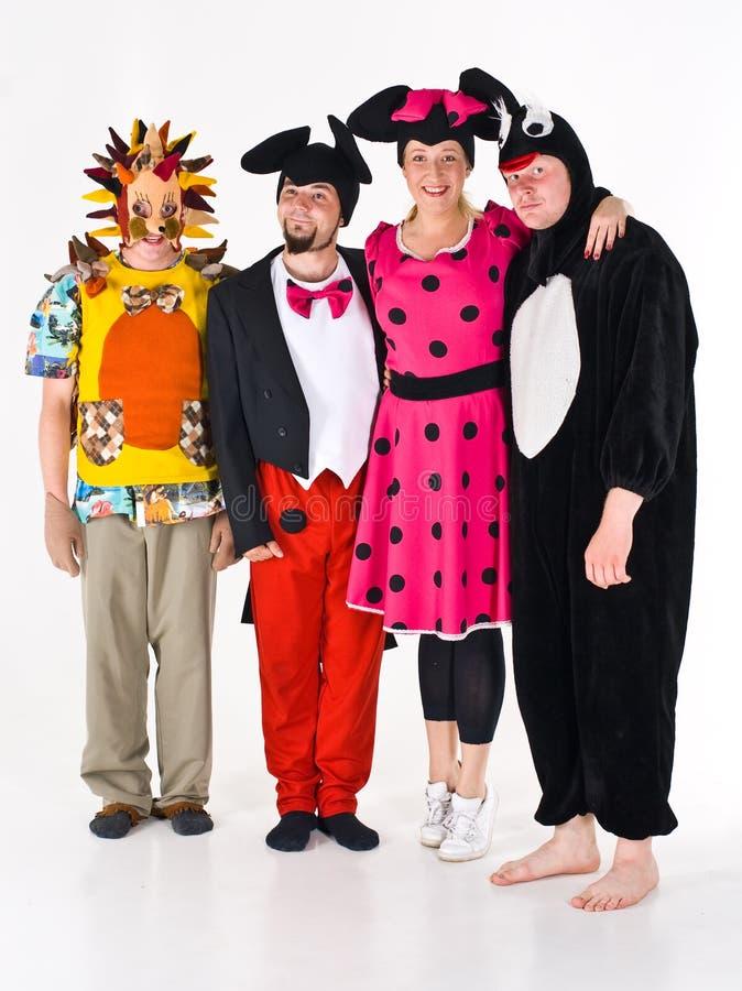 Adultes costumés pour le théâtre images stock