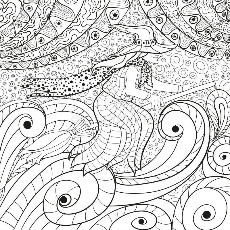 Adultes de livre de coloriage illustration libre de droits