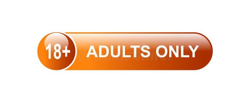 18 adultes plus seulement illustration de vecteur