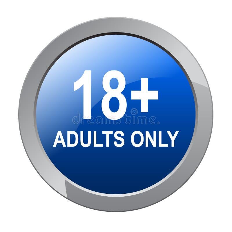 18 adultes plus seulement illustration stock