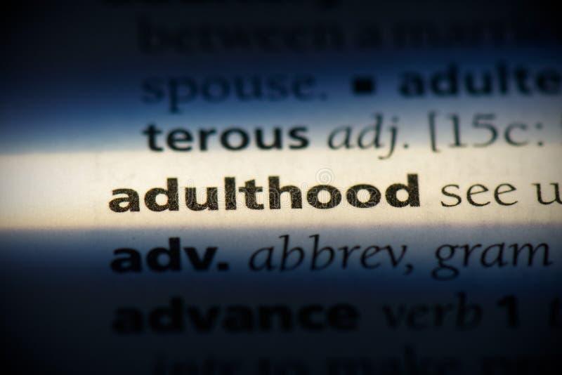 Adulthood imagens de stock