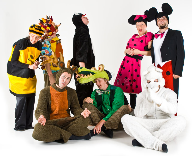 Adulti in costume immagine stock