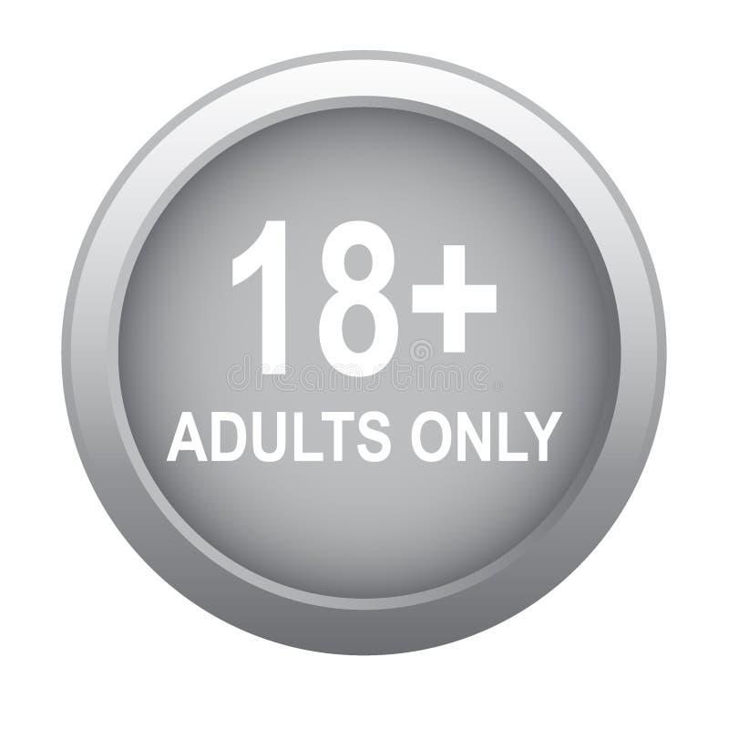 18 adulti più soltanto illustrazione vettoriale