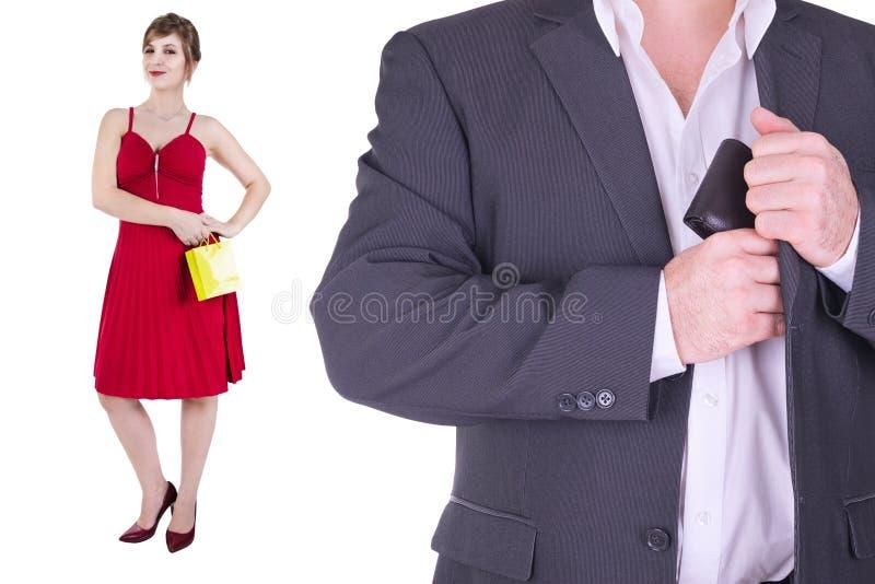Adulto de los pares aislado en el fondo blanco fotografía de archivo libre de regalías
