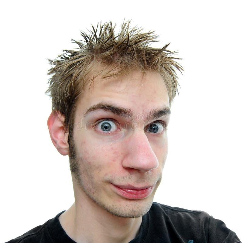 Adulto novo com cabelo spiky foto de stock
