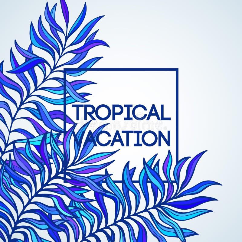 Adultos jovenes Ejemplo del vector de la palma tropical ilustración del vector