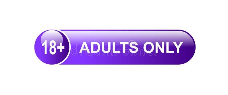 18 adultos positivos somente ilustração stock