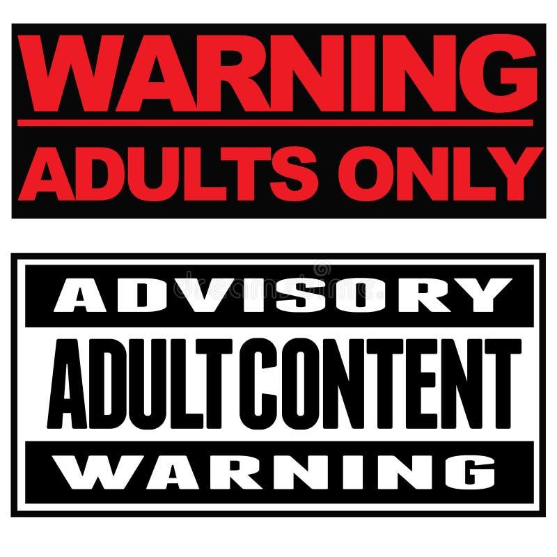 Adultos somente ilustração royalty free