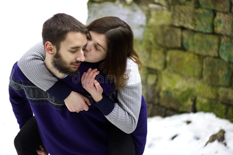 Adults, Affection, Blur stock image
