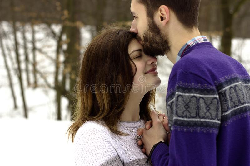 Adults, Affection, Clothes, Embrace royalty free stock image