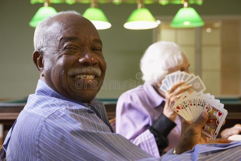 adults bridge playing senior στοκ εικόνες