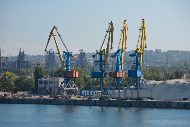 ?adunku port, park przemys?owy zdjęcie royalty free