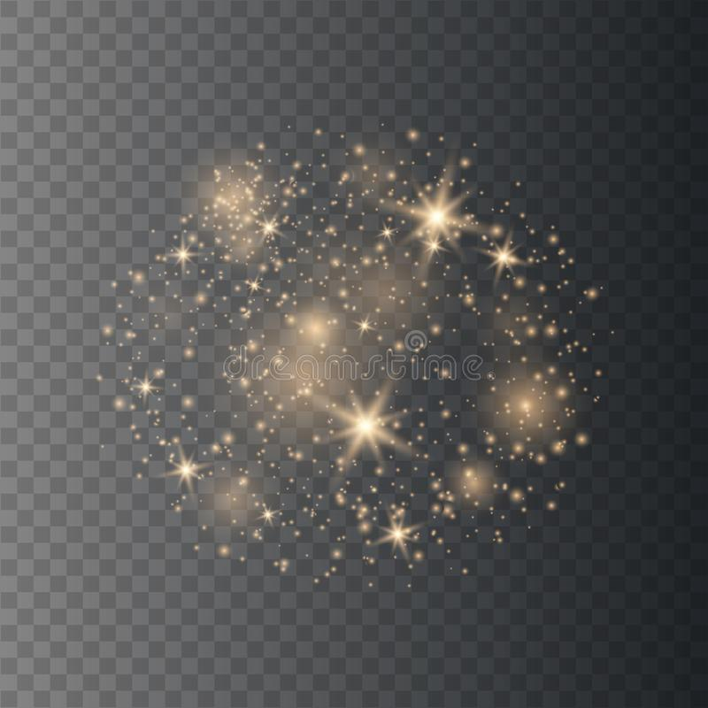 Sparkling magical dust particles. stock illustration