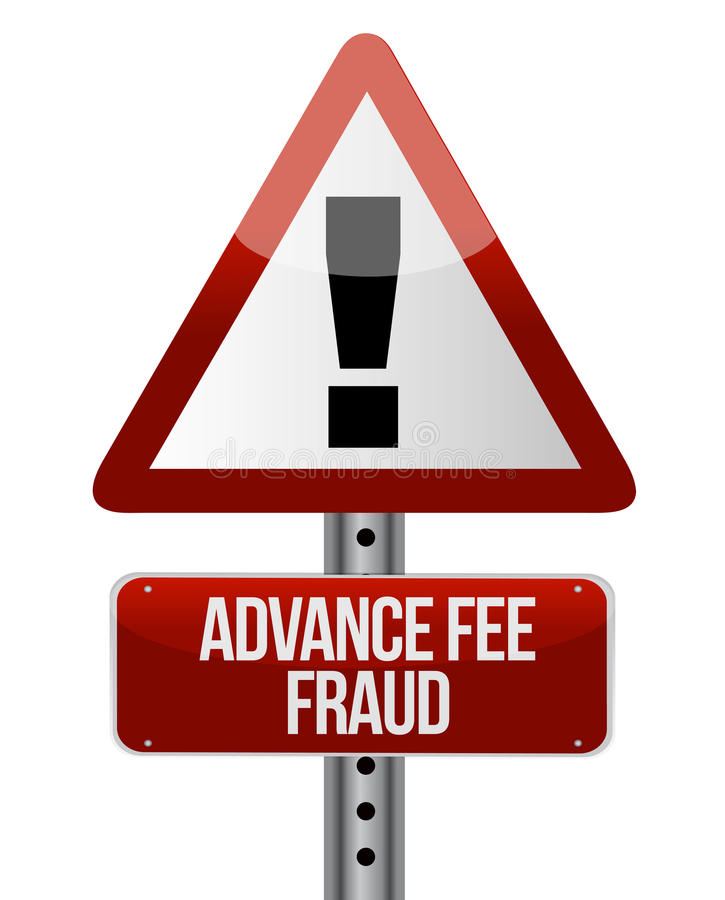 Advance fee fraud concept. Design over a white background vector illustration