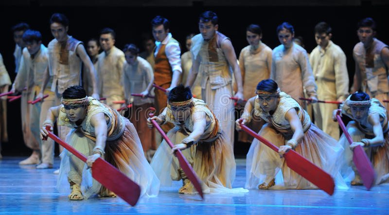 Advance wave upon wave.-The third act of dance drama-Shawan events of the past. Guangdong Shawan Town is the hometown of ballet music, the past focuses on the royalty free stock photos