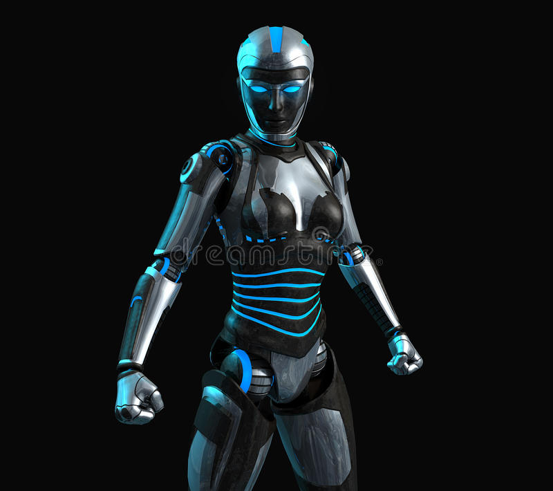 Download Advanced android stock illustration. Image of futuristic - 37034217