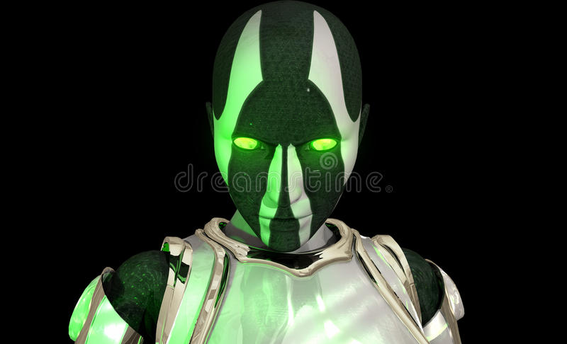 Advanced Cyborg Soldier Stock Images