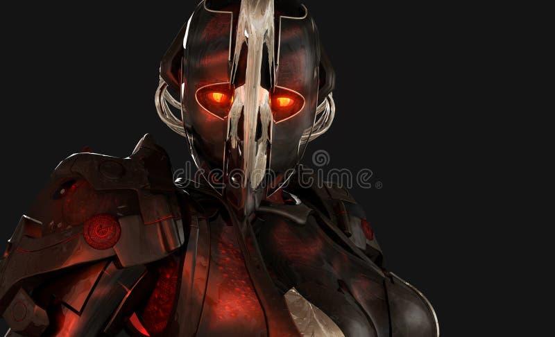 Advanced cyborg soldier stock photos