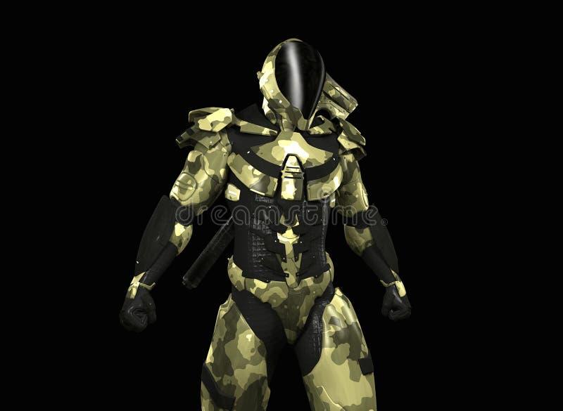 Advanced super soldier stock illustration