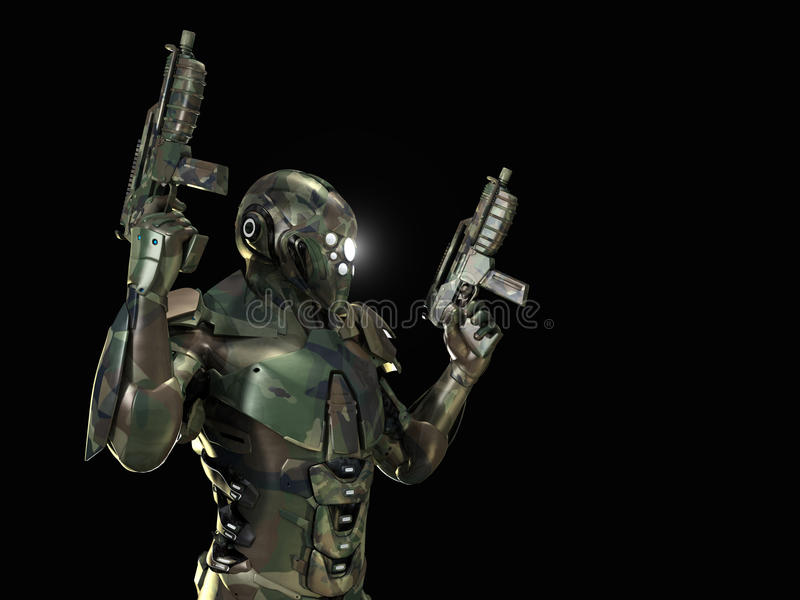 Download Advanced super soldier stock illustration. Illustration of weapon - 34583559