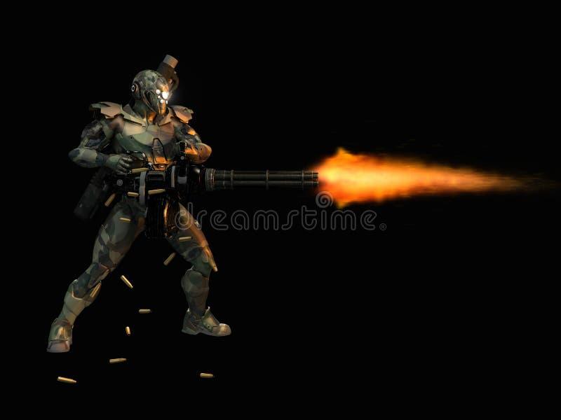 Advanced super soldier royalty free illustration