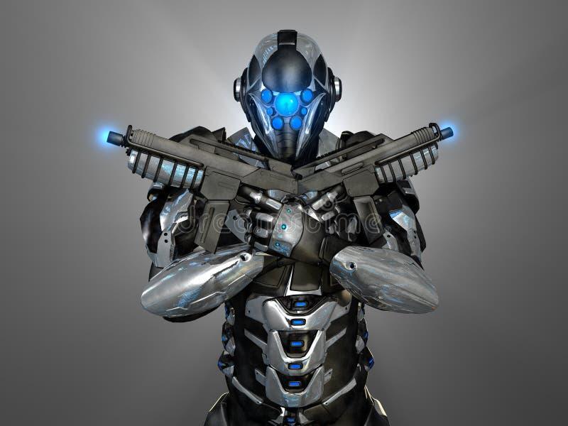 Advanced super soldier. 3d render of a advanced super soldier vector illustration