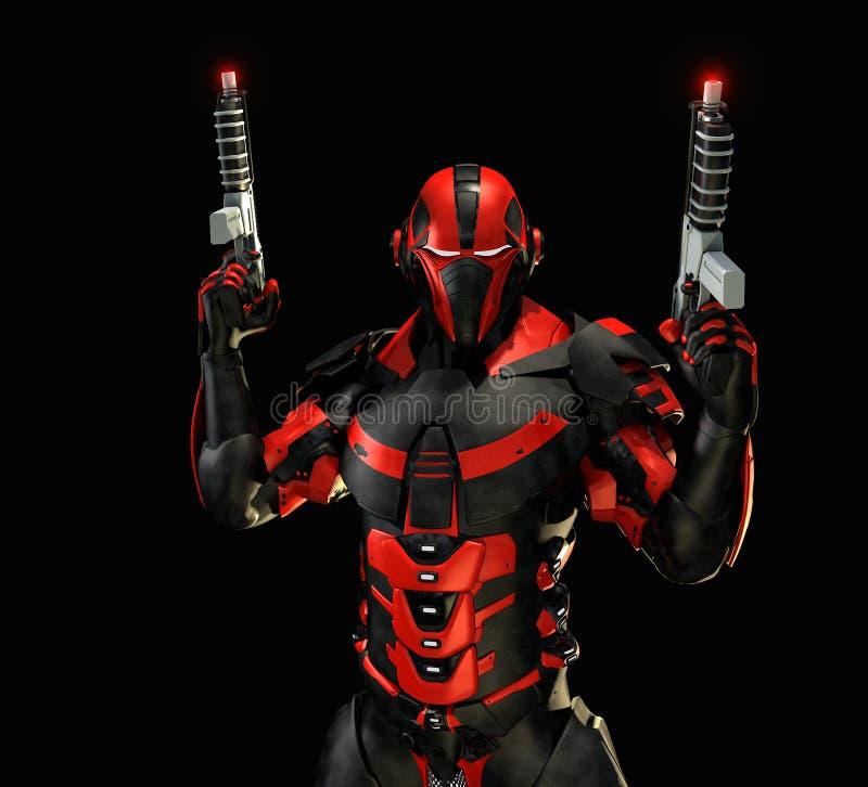 Advanced super soldier vector illustration